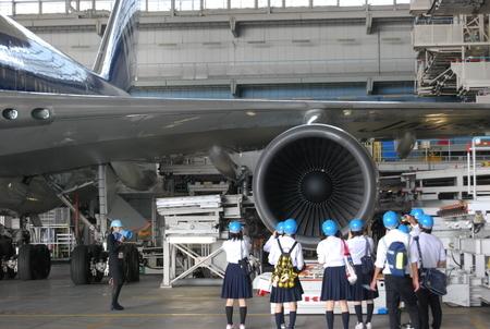 ANA飛行機機体工場見学画像,飛行機,工場,見学