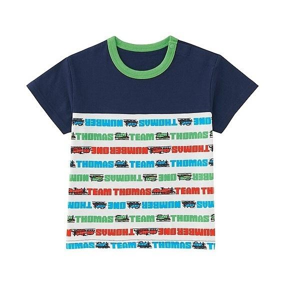 かんしゃトーマスグラフィックT,ユニクロ,キッズ,Tシャツ