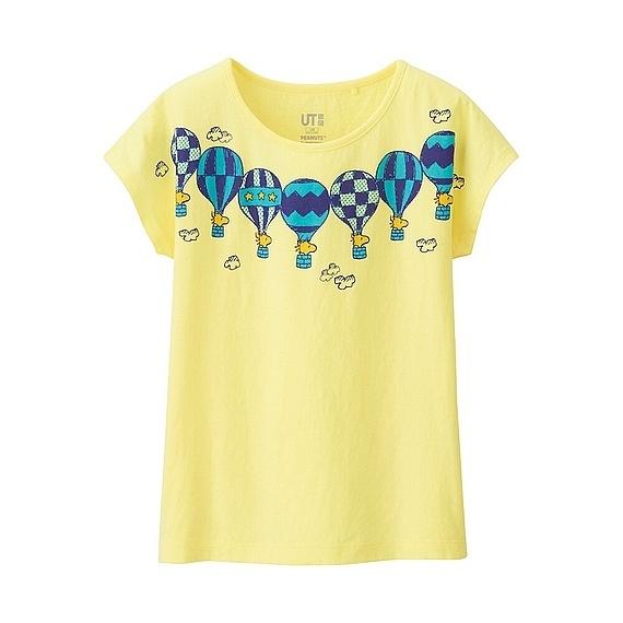 ピーナッツグラフィックT,ユニクロ,キッズ,Tシャツ