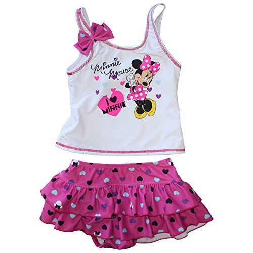 Disney(ディズニー) MinnieMouse(ミニーマウス) 女児用セパレート水着 33450532 ピンク 130,女の子,子供水着,