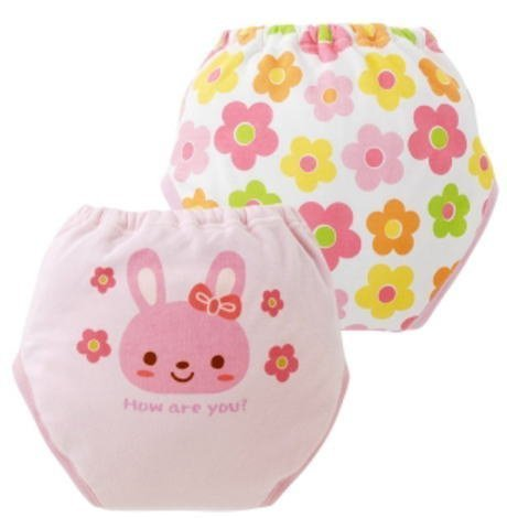 ニシキ4層ウサギちゃん&お花トレーニングパンツ2枚組 ,トイレ,トレーニング,グッズ