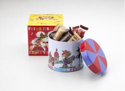 チロリアン丸缶,福岡,ご当地,お土産