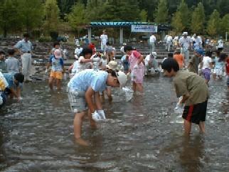 蛇石せせらぎ公園,宮城県,川遊び,公園