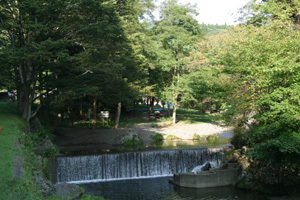 三滝堂ふれあい公園,宮城県,川遊び,公園