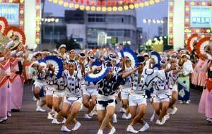 有料席からみる阿波おどり,徳島,阿波おどり,旅行