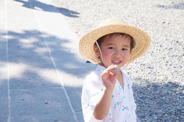 甚平を着る男の子,東京,奥多摩,花火大会
