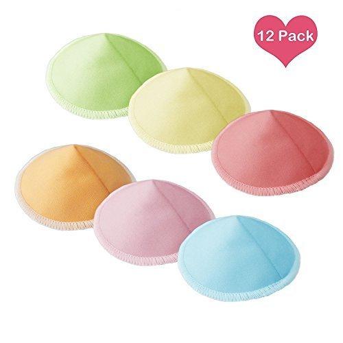ALoveSoul 布製母乳パッド フィットアップ 母乳パッド 錐形 通気 12枚セット 洗濯ネット付き,出産準備リスト ,