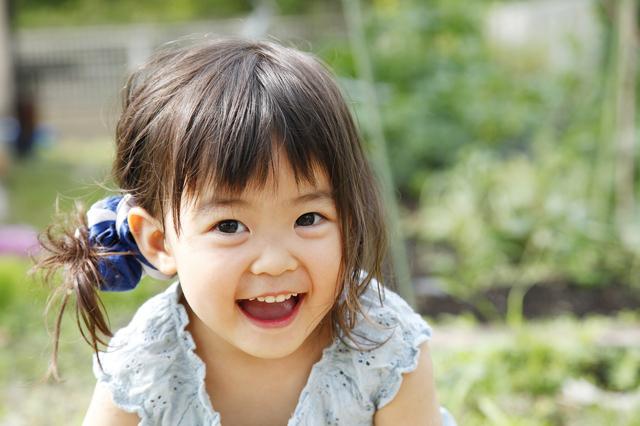 笑う女の子,子ども,バイリンガル,英語