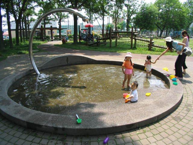 【3】若葉公園,北海道,おすすめ,じゃぶじゃぶ池