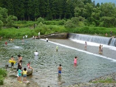登川河川公園,新潟,水遊び,公園