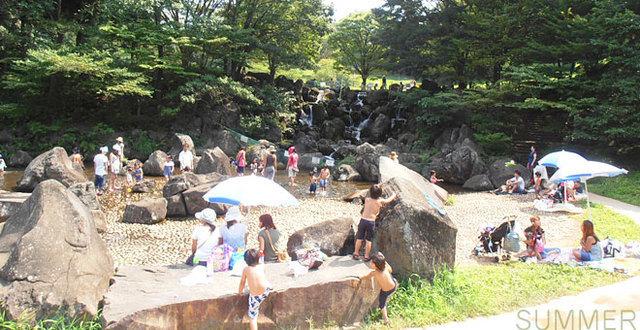 県立 四季の森公園,じゃぶじゃぶ池,子ども,公園