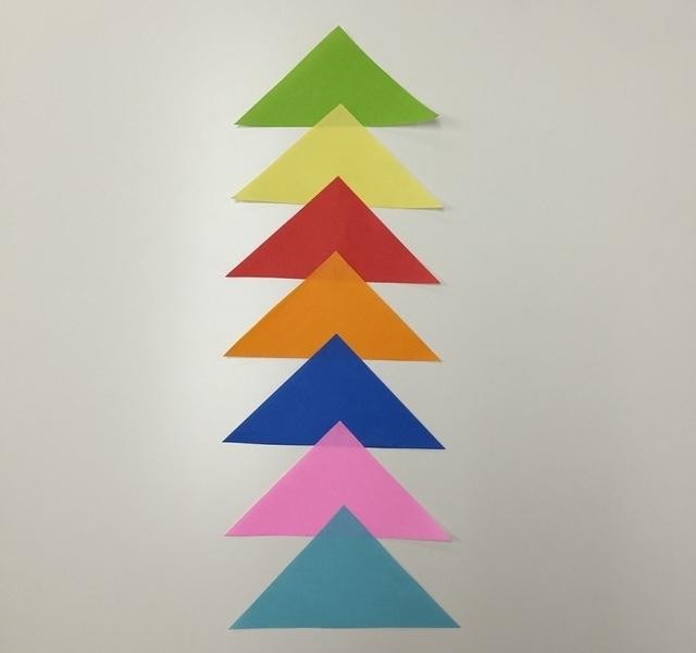 三角つづり,七夕,飾り,工作