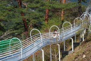 丹波山村水源公園ローラーすべり台,山梨,滑り台,人気