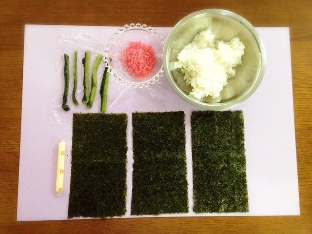 巻き寿司の材料,飾り,巻き寿司,巻き方