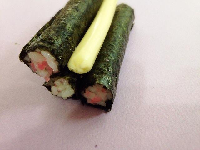 チーズと細巻き,飾り,巻き寿司,巻き方
