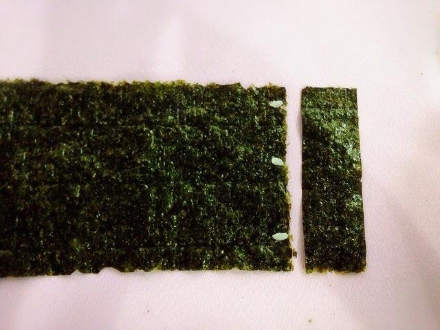 海苔をくっつける,飾り,巻き寿司,巻き方