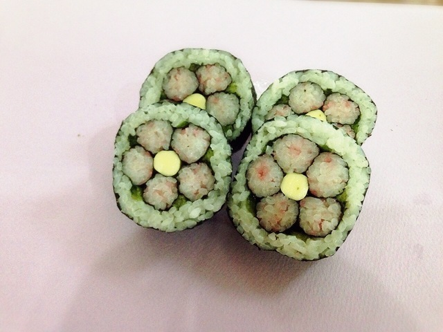 巻き寿司できあがり,飾り,巻き寿司,巻き方
