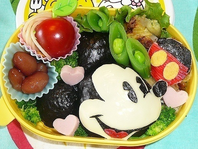 ミッキーマウス弁当,ディズニー,キャラ弁,ミッキー