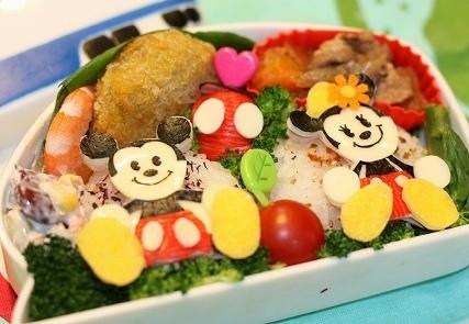 ミッキーマウス&ミニーちゃん弁当,ディズニー,キャラ弁,ミッキー