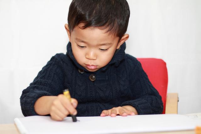 小学校受験の絵画の問題に挑戦,小学校受験,絵画,折り紙