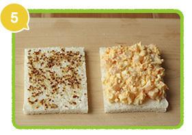 材料をパンにはさむ,レシピ,サンドイッチ,行楽弁当