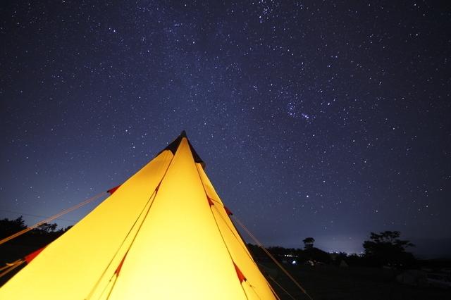 キャンプ場で星空観察,山梨,ウッドペッカー,