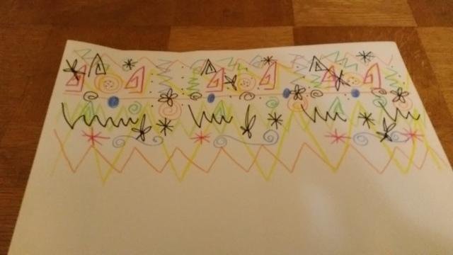 画用紙に描かれた模様,牛乳パック,簡単,工作