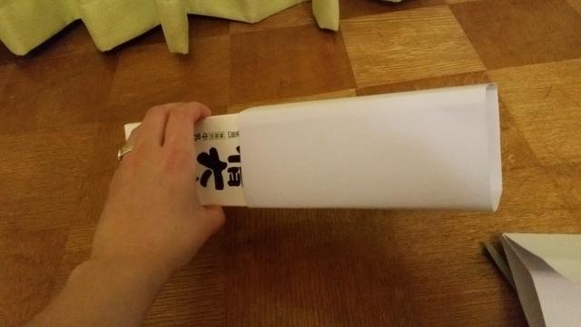 画用紙と牛乳パックの留め方,牛乳パック,簡単,工作