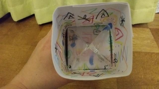 牛乳パックの万華鏡,牛乳パック,簡単,工作