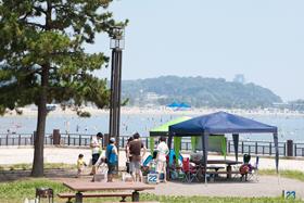 海の公園バーベキュー,横浜,海の公園,海水浴