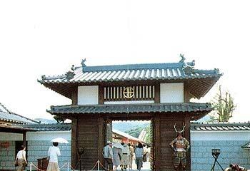 川内戦国村 戦国村城門,鹿児島,おでかけ,スポット