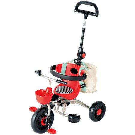 スリーステップ三輪車 ( レッド ) ベネッセ,しまじろう,おもちゃ,おすすめ