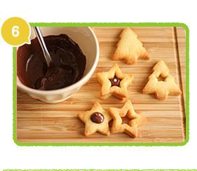チョコを挟む,レシピ,子ども,クリスマス