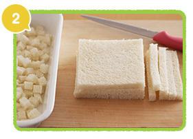 食パンを切る,レシピ,エビ団子,時短