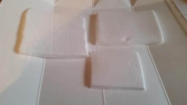 長方形に切られた粘土(オリジナル),粘土,工作,鯉のぼり