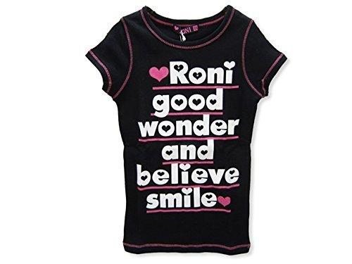 (ロニィ) RONI メッセージプリントS/STシャツ SS(97-107) ブラック(19),女の子 ,人気,ファッション