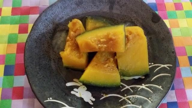 レンジでkぼちゃの煮付け,時短,簡単,レシピ