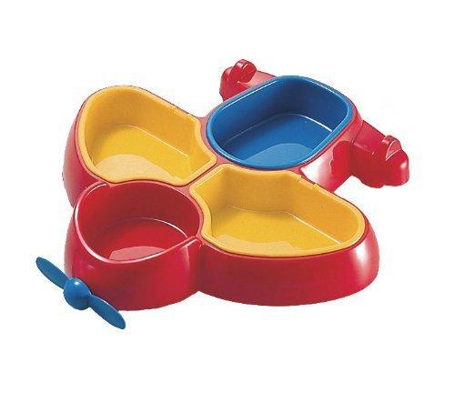 お子様食器 飛行機 ランチ皿 レッド 01701R,キッズ,プレート,食器