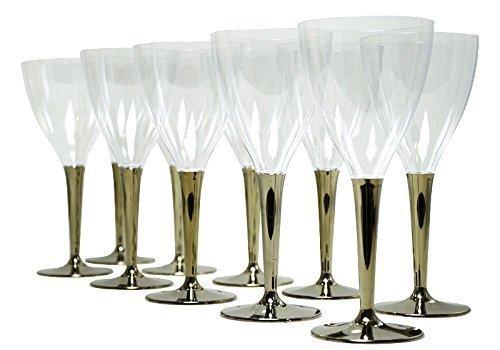 mozaik(モザイク) ワイングラス ゴールドステム 10個入り MZGLGO,ホームパーティー,食器,おすすめ