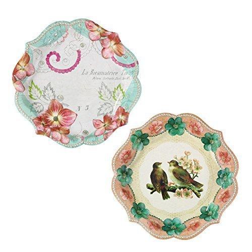 Talking Tables(トーキングテーブル)紙皿/フラワー&鳥,ホームパーティー,食器,おすすめ
