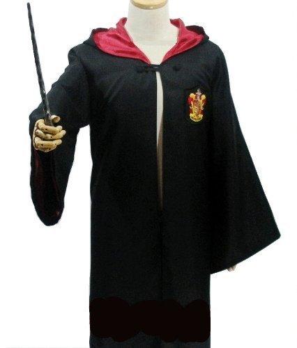 ハリーポッター 衣装セット (ローブ、眼鏡、ネクタイ、魔法の杖) キッズコスチューム 男女共用 120cm-130cm前後,子ども,キッズ,コスチューム