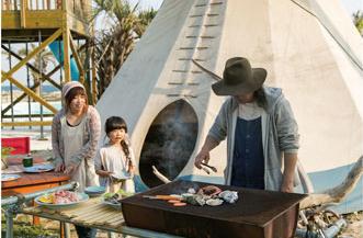 白浜フラワーパークの炭火BBQ,白浜フラワーパーク,キャンプ,千葉