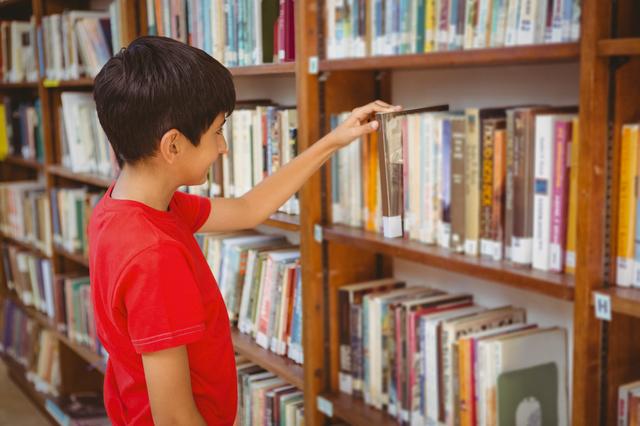 本を選んでいる子ども,シール,ステッカー,おすすめ