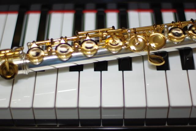 ピアノとフルート,赤ちゃん,コンサート,リトミック