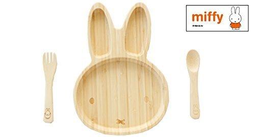ミッフィーフェイスプレートセット 竹製食器 FUNFAM,子供,食器,おすすめ