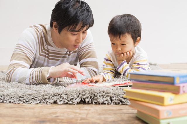 パパと子どもで絵本読み,パパ,好き,子ども