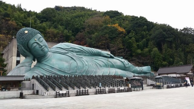 南蔵院の涅槃像,南蔵院,福岡,涅槃像
