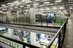 トッパンメディアプリンテック東京「座間工場」の内部,工場見学,印刷,朝日新聞