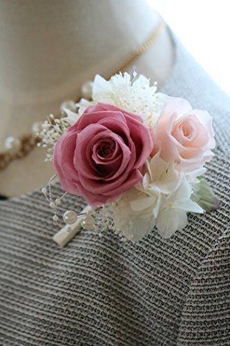 コサージュ 結婚式 入園入学式準備に プリザーブドフラワーコサージュ ブロッサムピンク,コサージュ,入園式,入学式