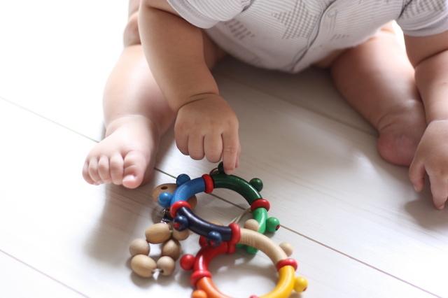 おもちゃで遊ぶ赤ちゃん,おもちゃ,女の子,0歳